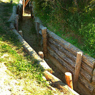Old trench on the Gallipoli (Turkish Gelibolu) peninsula.