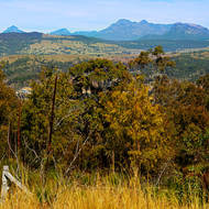 Mt. Barney and the mountains of the scenic rim over the Kooralbyn Valley.