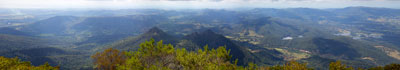 Thumbnail image of Panoramic view east and south from the summit...