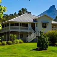 Mavis's Kitchen and Restaurant against the backdrop of Mount Warning.