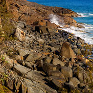 Rocks and sea spray and to the Great Sandy National Park.
