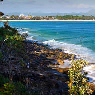 Little Cove and the main beach of Noosa.