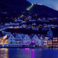 The fishmarket across Bergen's Vagen harbor.