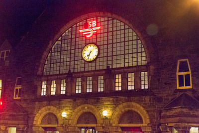 Thumbnail image ofExterior of the Bergen railway station, the national...