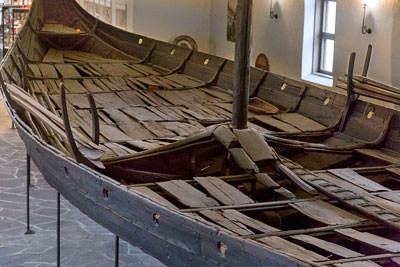 Thumbnail image ofView of the deck towards the prow of an exhumed...