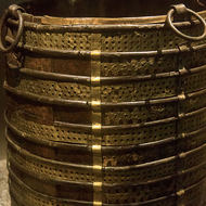 Water bucket buried with a body on a Viking boat.
