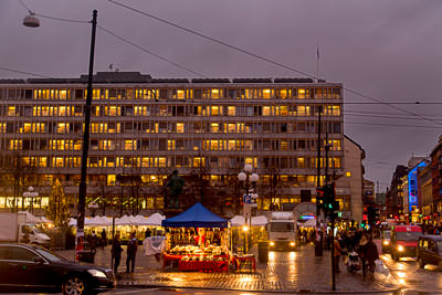 Thumbnail image ofChristmas markets in Oslo center square, cold...