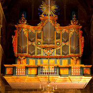 Church organ in Nidaros Cathedral.