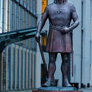 Statue representing Leiv Eiriksson titled He Led the Way.