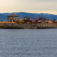 Munkholmen, Monk Island, fort, prison and execution site.