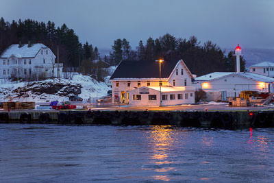 Thumbnail image ofWelcome to Finnsnes, wharf and lighthouse.