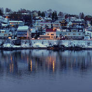 Pretty little town of Finnsnes.