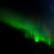 Display of the northern lights, Aurora Borealis.