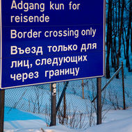 Russian border crossing.