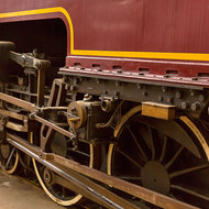Details of the front drive train of Beyer Garratt steam locomotive 1009.