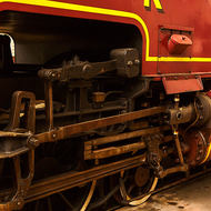 Details of the rear drive train of Beyer Garratt steam locomotive 1009.