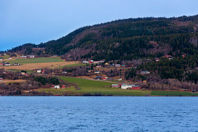 Thumbnail image ofFarms and houses on the outskirts of Trondheim.