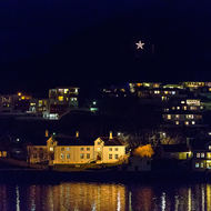 Buildings and houses around the harbor at Kristiansund.