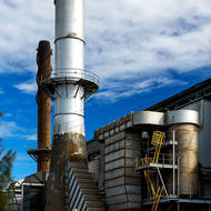 Sugar mill at the Bundaberg Distilling Company.