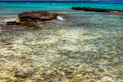 Thumbnail image ofShallow tidal pools around the coral cay and a...