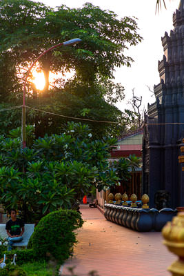 Thumbnail image ofThe grounds of Wat Prom Rath, an area of quiet...
