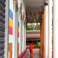 Veranda around the temple in Wat Prom Rath.