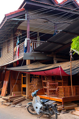 Thumbnail image ofShop house, house above and construction shop...