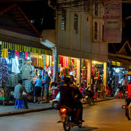 Siem Reap Old Market night market.