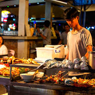 Night market street food.