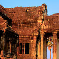 One of the two ancient library buildings in the grounds of Angkor Wat.