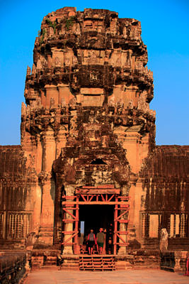 Thumbnail image of The main tower on the western entrance to Angkor...