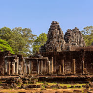 The southern side of Bayon in the Angkor Thom complex.