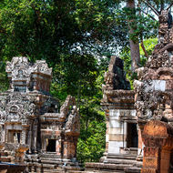 View among the many small temples in the Angkor Thom complex.
