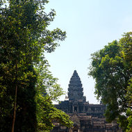 Pathway to the eastern side of Angkor Wat.
