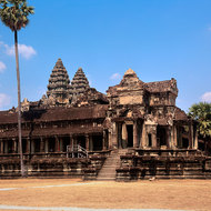 The south-west corner of Angkor Wat.
