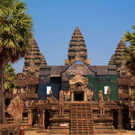 The west or main entrance to Angkor Wat.