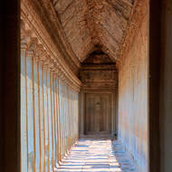 North wing of the western entrance gallery of Angkor Wat.