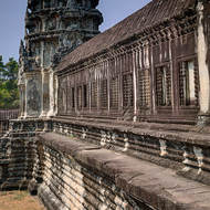 The south wing and corner tower of the eastern gallery of enclosure II of Angkor Wat.