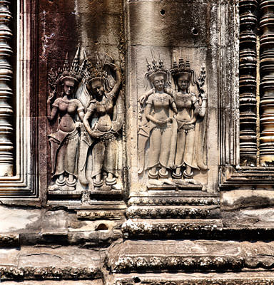 Thumbnail image ofBas relief of Apsara dancers on the inner wall...