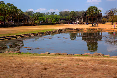 Thumbnail image ofThe northern pond in the outer courtyard of Angkor...