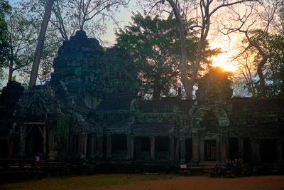 Thumbnail image ofSun rising over Ta Prohm, from the western side...