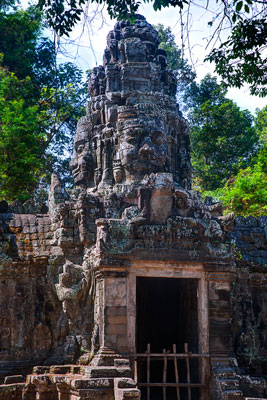 Thumbnail image ofEntranceway tower through the outer wall of Banteay...
