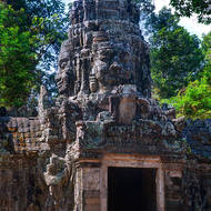 Entranceway tower through the outer wall of Banteay Kdei.