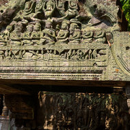 Friezes on the western entrance gallery of Beng Mealea temple.