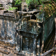 Looking down at the inner enclosure of Beng Mealea temple.