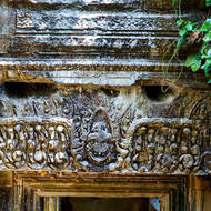 Frieze over a doorway inside the Beng Mealea temple.