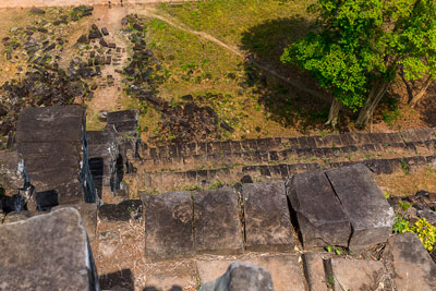 Thumbnail image ofLooking down from the Prasat Thom pyramid temple...