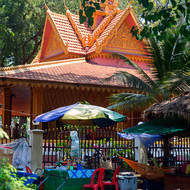 Roadside noodle shop behind Preah Angchek temple.