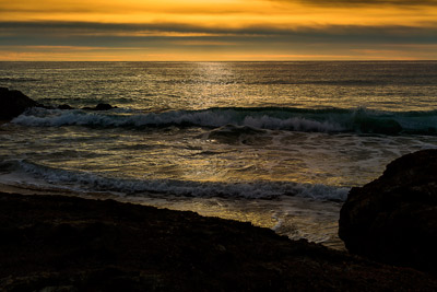 Thumbnail image ofGolden sea in the early morning sun rise light.