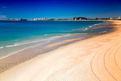 Thumbnail image of Surf beaches of Currumbin and Coolangatta on a...